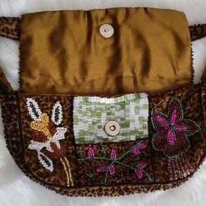 Handbags - Boho beaded bag made in India